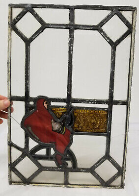 Antique 19th Century Stained Glass Window Panel German European English