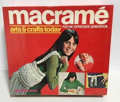 Macrame Arts & Crafts Today For the Expressive Generation New Sealed Old Stock