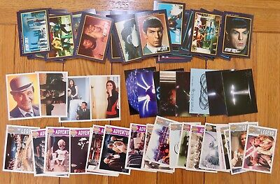 Job Lot Mixed Trading Cards. Star Trek, Dr Who, X Files, The Avengers. 78 cards