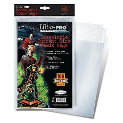 Ultra Pro Resealable Current Size Comic Bags Pack of 100 New