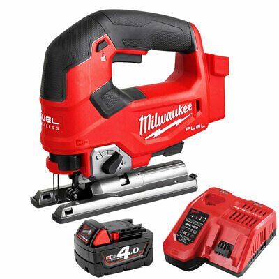 Milwaukee M18FJS-0X 18V Brushless Jigsaw With 1 x 4.0Ah M18B4 Battery & Charger