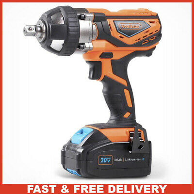 20V Battery Powered Impact Wrench Drill with 1/4 Driver Wheel Nut Bolts Cordless