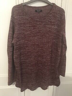 Burgundy Maternity Jumper From Newlook Size 14