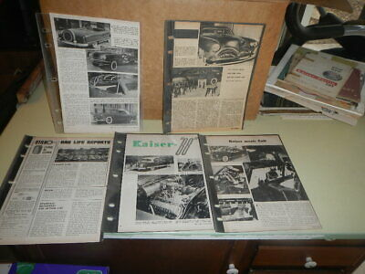 LOT OF (9) Vintage Kaiser  Customized  automobile print ad Very Nice
