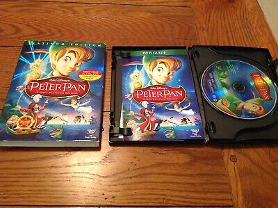 Disney Peter Pan Platinum Edition 2-Disc Special Edition 2007 DVD Slipcover