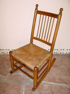 Antique Childs Rush Rocking chair