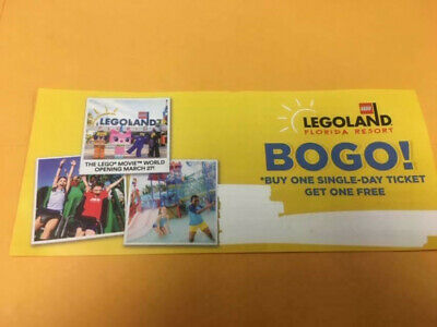 LEGOLAND FL  Guaranteed  Buy One Get One Free Adult Tickets!