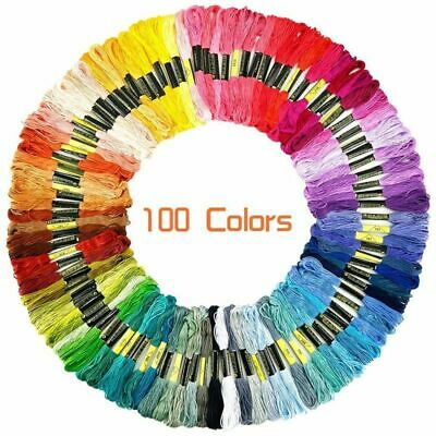 100pcs/lot DMC Cross Stitch Cotton Embroidery Thread Floss Sewing Craft Skeins