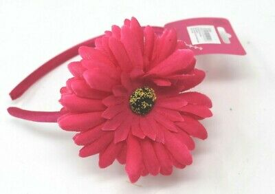Deep Pink Head Alice Band On A Satin Band For Festival Wedding Races Prom