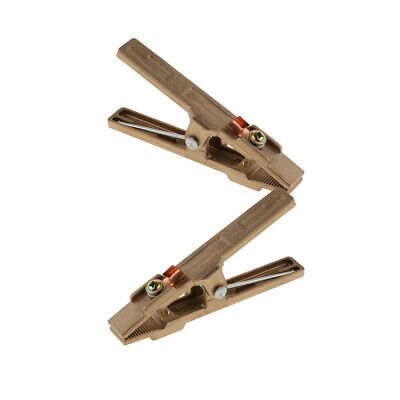 2 Pieces A Shape Ground Welding 300A Amp Earth Clamp Full Brass Material