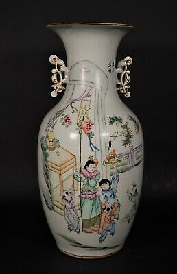 Antique Famille Rose Porcelain Vsae  - China Early 20th Century Republic Period