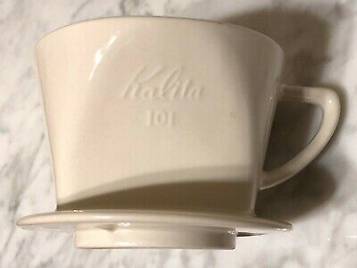 Kalita 101 Ceramic Coffee Dripper for 1 or 2 People White Color