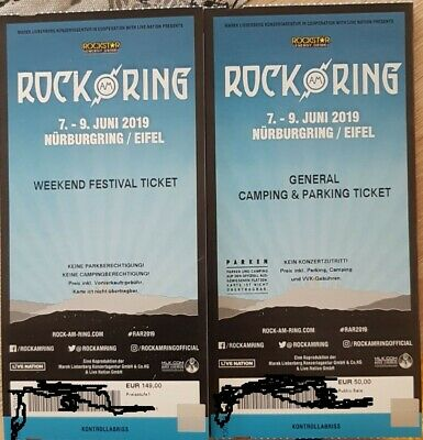Rock am Ring 2019 Ticket inkl. General Camping und Parken Ärzte Slipknot u.s.w.