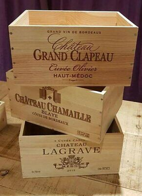 3 X Genuine French Wooden Wine Crate * Box  Planter Childrens Drawers Storage +