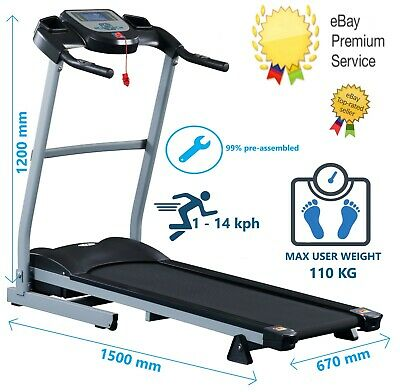 Fit4home T280 TREADMILL Electric Folding Running Machine Cardio Fitness Home Gym