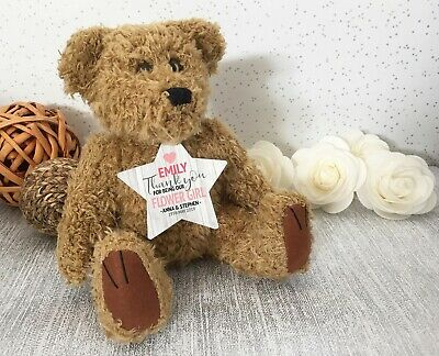Personalised FLOWER GIRL wedding teddy bear thank you gift * 2 gifts in 1 - WED3