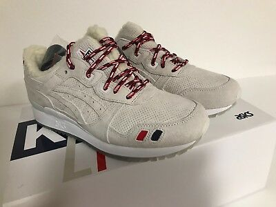 detailed look 6ce29 bd938 NEW! KITH X MONCLER X ASICS GEL-LYTE III Navy/White Suede ...