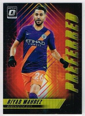 DONRUSS SOCCER 2018-2019 ☆ PREFERRED GOLD PARALLEL ☆ Riyad Mahrez Man City #/10