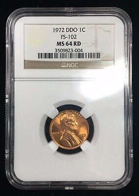 1972 Ddo Lincoln Memorial Cent - Ngc Ms64 Rd - Fs-102 (033.52) - Doubled Die