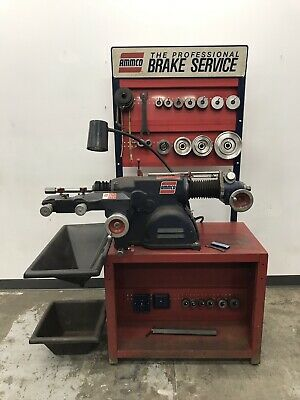 Ammco 4000B Disc and Drum Brake Lathe w/ Stand & ADAPTEK Adapters for he-7662