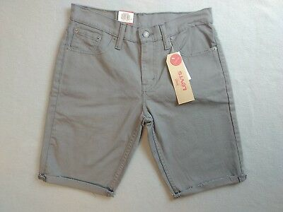 4549700c2d Levi's 511 Slim Cut Off Shorts Denim Mens Size 30 Grey Zip Fly New With Tags
