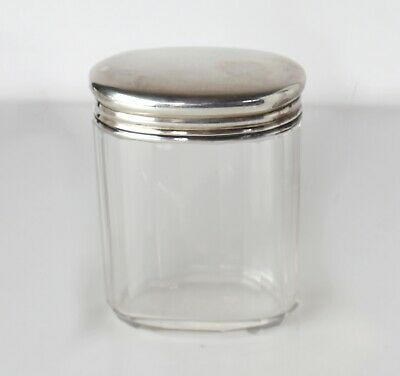 Issac Millar Wilkinson London 1915, Sterling Silver on Cut glass Vanity Jar