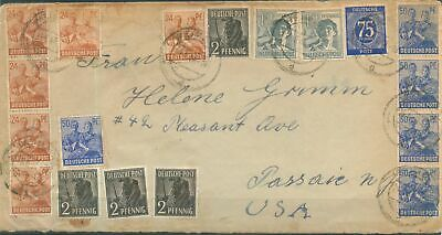 Germany Allied Occ. Soviet Zone 1948 Mi various stamps on cover sent to USA