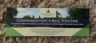 Golf Voucher For 4 People At Brandon Wood Golf Club (Golf Gift)