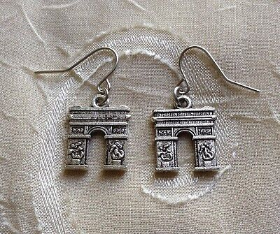 NEW Ancient Roman Earrings Triumphal Arch Silver History Emperor Geek Unique