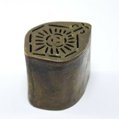 Indian Antique Hand Crafted Engraved Brass Rangoli Artwork Making Dye. i7-120 CA