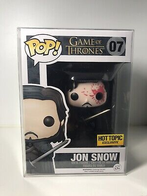 Funko pop! Game of Thrones #07 Jon Snow Bloody Variant-Hot Topic Exclusive