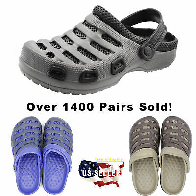 Men's Clog Non Skid Slip On Shoes Water Mule Garden Light Weight Sandals