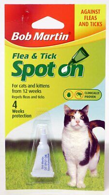 Bob Martin Flea &Tick Spot on for Cats and Kittens 4 weeks protection