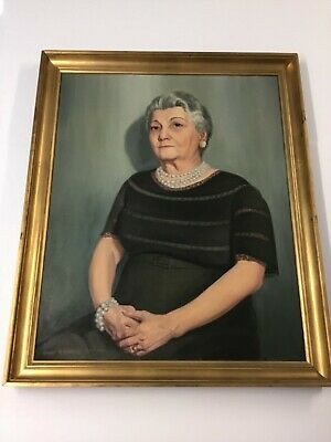 Need A Grandmother? Large Oil Painting By Louise Novella Roberts 1960