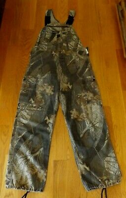 17c71ed0552d2 LIBERTY CAMO BIB Overalls Realtree Hunting Fishing Cargo Pants Mens ...