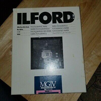 "Ilford 8 x 10"" Multigrade IV RC DLX Black & White Paper 96 Shts Glossy, 1770340"