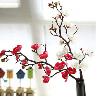 Bouquet Artificial Silk Cherry Blossom Fake Garden Plant Flower Home Decora SW