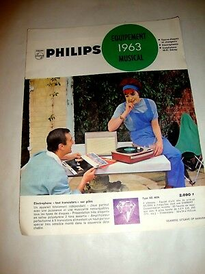 Catalogue Equipements Musical Philips 1963.
