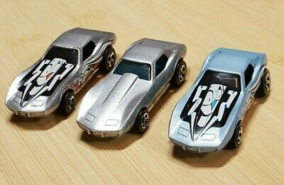 VINTAGE HOT WHEELS LOT OF 1970's CORVETTES - Silver Blue Decaled Windows