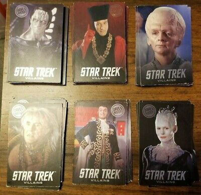 204 Assorted Dave & Buster's Pusher Game Star Trek Cards, various series
