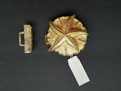 Vintage Dotty Smith Gold Tone Starfish Belt Buckle Nwt
