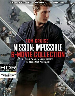 Mission Impossible 6 Movie Collection 4K Ultra Hd + Blu-Ray 13 Disc Set