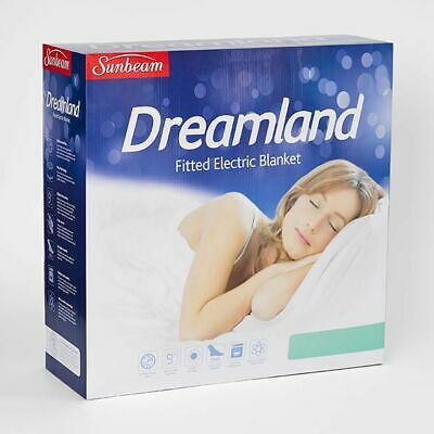 NEW Sunbeam Dreamland Fitted Electric Blanket Size King Single Bed