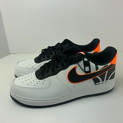 outlet store 201e5 2994a Nike Air Force 1 Low  07 LV8 NBA Hoops White Black Orange 823511-104