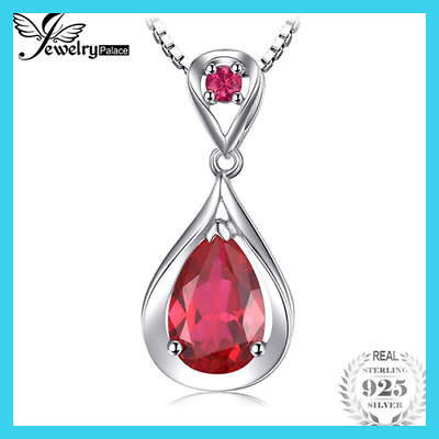 4ct Red Ruby Pendant 925 Sterling Silver For Women Fine Jewelry Without A Chain