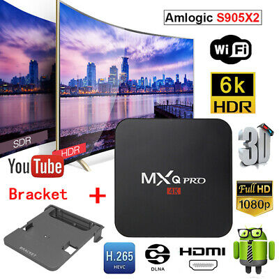 Lot MXQ Pro TV Box S905X 8GB 4K Quad Core 1080P HDMI WiFi Android Player+Bracket