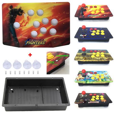 DIY Arcade Joystick Kits Acrylic Multiple Artwork Panel Flat Case Box US Stock