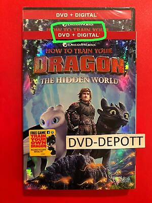 How to Train Your Dragon The Hidden World DVD + DIGITAL *AUTHENTIC DVD READ* New