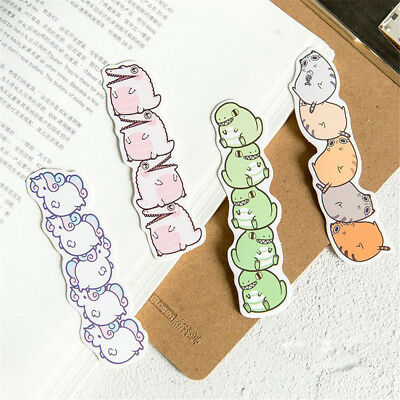 Cartoon Animals Paper Bookmark School Stationery Kids Gift Message Card Hot Sale