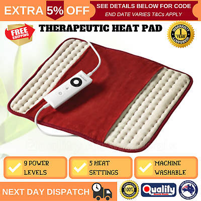 Sunbeam Deluxe Heat Pad Electric Joint Tension Soothing Pain Relief Heating Mat